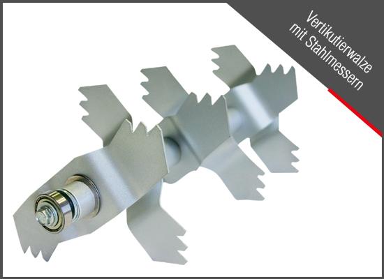 Vertikutieren | Stahlmesser eines AL-KO Vertikutierers