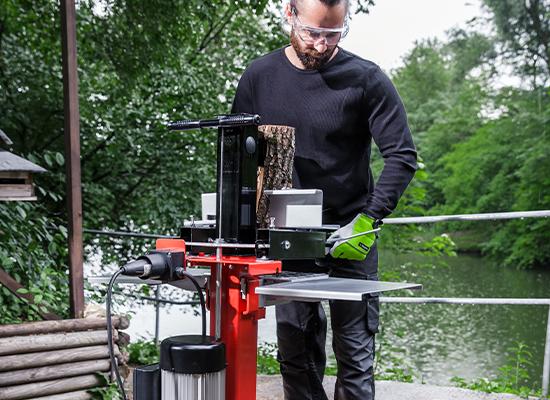 Holzspalter   AL-KO Holzauflage am Spalttisch